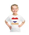 Nederland hart vlag t shirt wit jongens en meisjes
