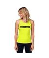 Neon geel kampioen sport shirt singlet champion dames