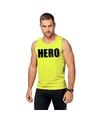 Neon geel sport shirt singlet hero heren