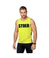 Neon geel sport shirt singlet stoer heren