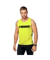 Neon geel winnaar sport shirt singlet winner heren