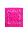 Neon roze zakdoek bandana 53 x 53 cm