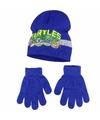 Ninja turtles blauwe winterset 2 delig voor jongens