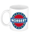 Norbert naam koffie mok beker 300 ml