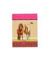 Notitieboekje a7 paarden roze bruin