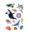 Oceaan dieren stickers 1 vel