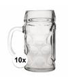 Oktoberfest 10x voordelige bierpullen bierglazen 1 liter