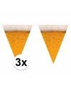 Oktoberfest 3x bier print vlaggenlijn 6 meter