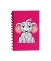 Olifanten notitieboekje roze 18cm