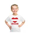 Oostenrijk hart vlag t shirt wit jongens en meisjes