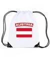Oostenrijk nylon rugzak wit met oostenrijkse vlag