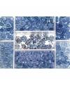 Opbergdoos lichtblauwe glaskralen 115 gram