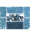 Opbergdoos turquoise glaskralen 115 gram