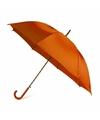 Oranje automatische paraplu 107 cm