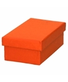 Oranje cadeaudoosje 10 cm rechthoekig