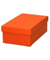 Oranje cadeaudoosje 13 cm rechthoekig