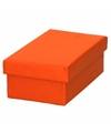 Oranje cadeaudoosje 15 cm rechthoekig