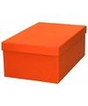 Oranje cadeaudoosje 23 cm rechthoekig