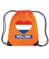 Oranje holland hart vlag rugzak