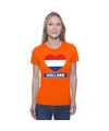 Oranje holland hart vlag shirt dames