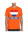 Oranje holland hart vlag shirt heren