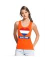 Oranje holland hart vlag tanktop dames