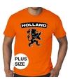 Oranje holland shirt met zwarte leeuw grote maten shirt heren