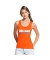 Oranje holland supporter tanktop dames