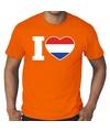 Oranje i love holland grote maten shirt heren