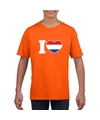 Oranje i love holland shirt kinderen