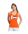 Oranje i love holland tanktop dames