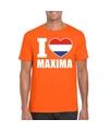 Oranje i love maxima shirt heren