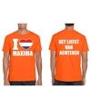 Oranje i love maxima van achteren shirt heren