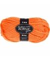 Oranje maxi acryl garen 35 meter