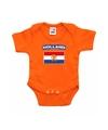 Oranje rompertje hollandse vlag baby