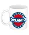 Orlando naam koffie mok beker 300 ml
