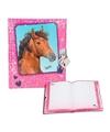 Paarden dagboek roze met slotje
