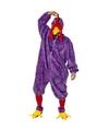 Paars kip haan kostuum voor volwassenen