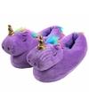 Paarse eenhoorn pantoffels voor dames