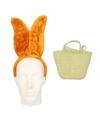 Paashaas accessoires set bruin voor volwassenen