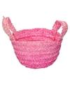 Paasmandje roze voor paaseieren