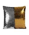 Pailletten kussen zilver goud 40 cm