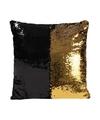 Pailletten kussen zwart goud 40 cm