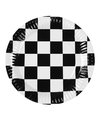 Papieren finish bordjes zwart wit geblokt 6 stuks