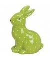 Pasen groen paashaas dierenbeeldje 10 cm