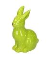 Pasen groen paashaas dierenbeeldje 15 cm