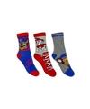 Paw patrol jongens sokken 3 pak rood blauw