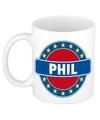 Phil naam koffie mok beker 300 ml