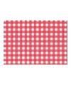 Placemat rood wit geblokt 43 x 30 cm