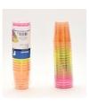 Plastic gekleurde shotglazen 20 stuks